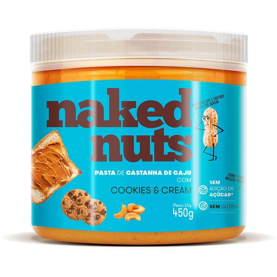 Pasta De Castanha De Caju Com Pedacinhos De Cookies 450g - Naked Nuts