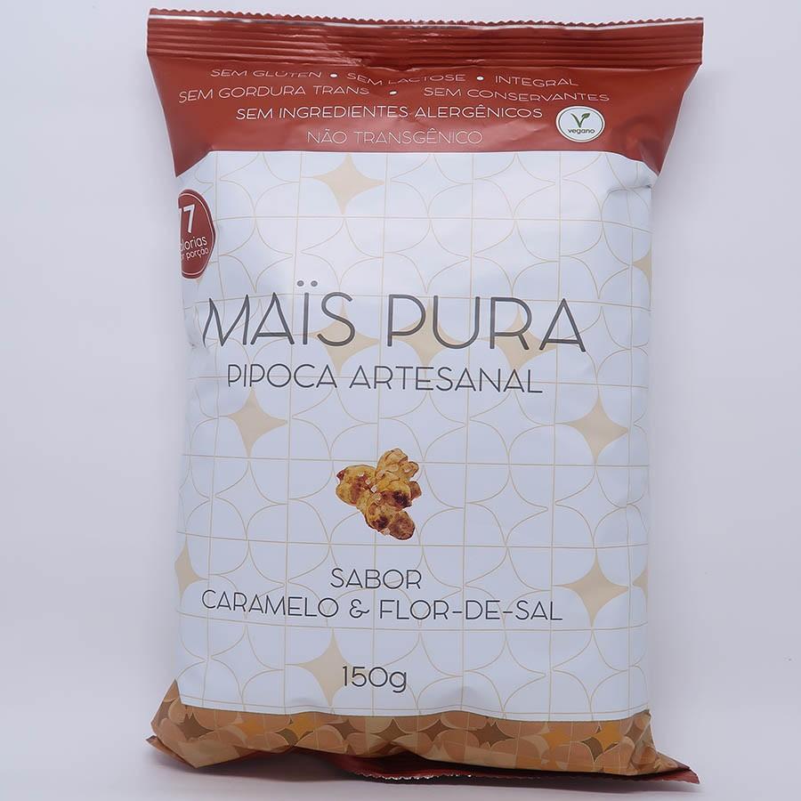 Pipoca Caramelo E Flor De Sal 150g - Mais Pura