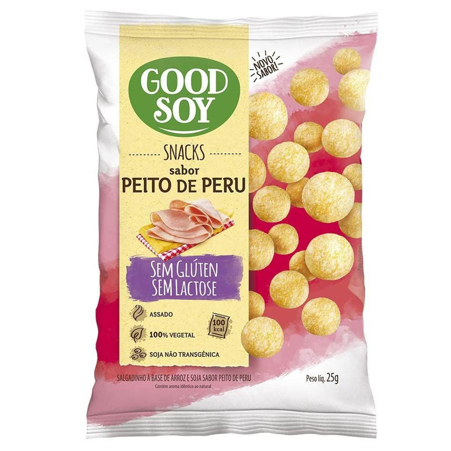 Snack Light De Soja Peito De Peru 25g - Good Soy