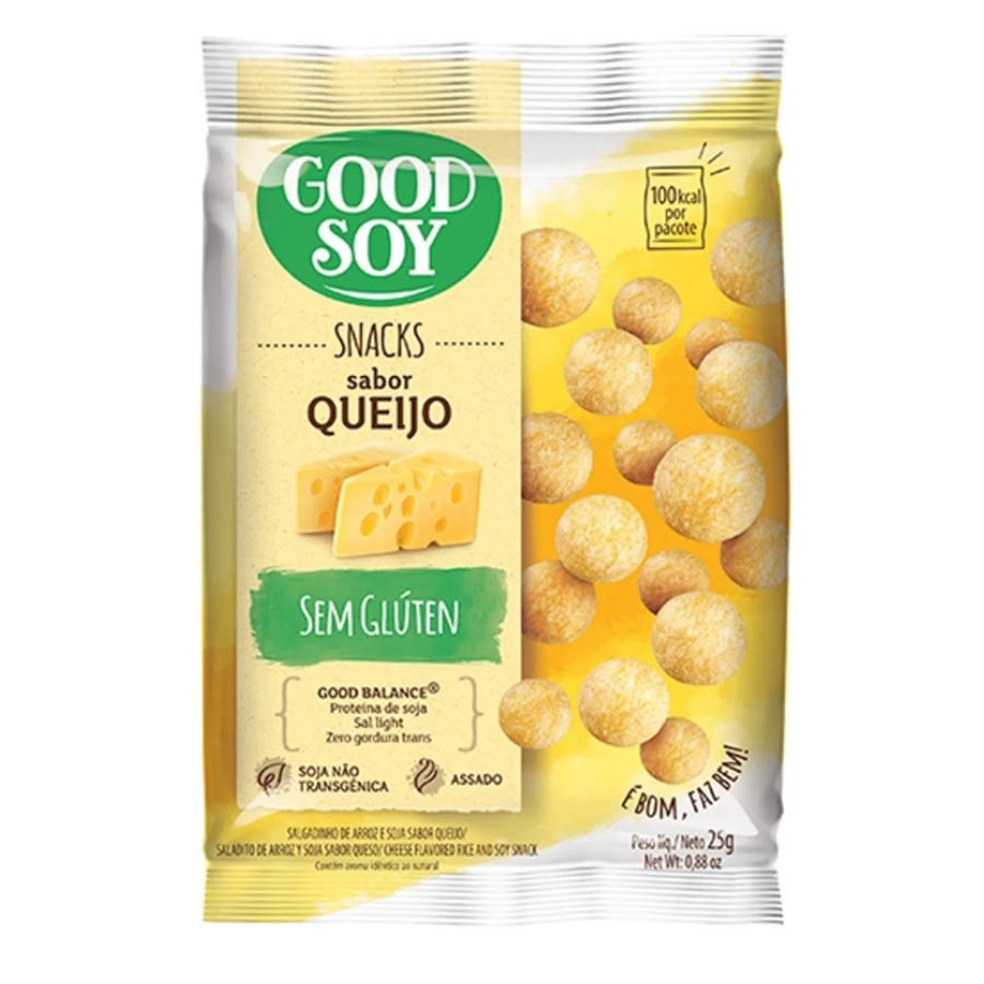 Snack Light De Soja Queijo 25g - Good Soy