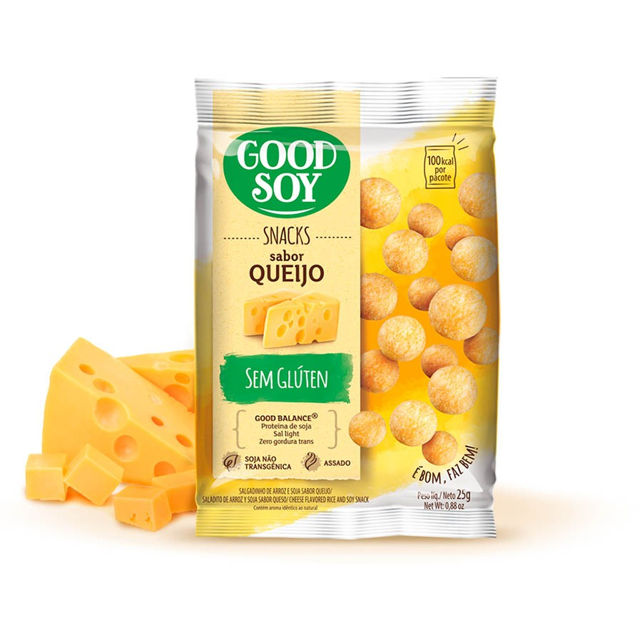 Snack Light De Soja Queijo 25g - Good Soy