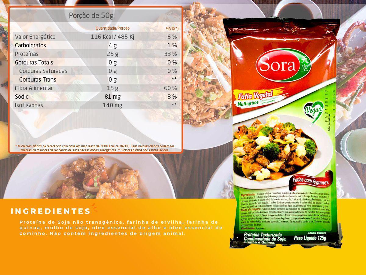 Sora multigrãos carne vermelha com legumes