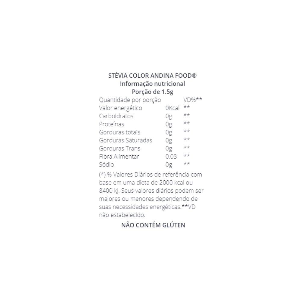 Stévia 100% Natural 20G - COLOR ANDINA