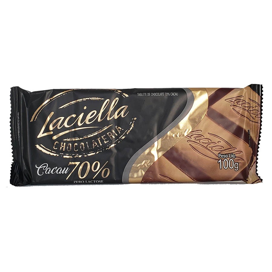 Tablete Chocolate 70% Cacau 100g - Laciella