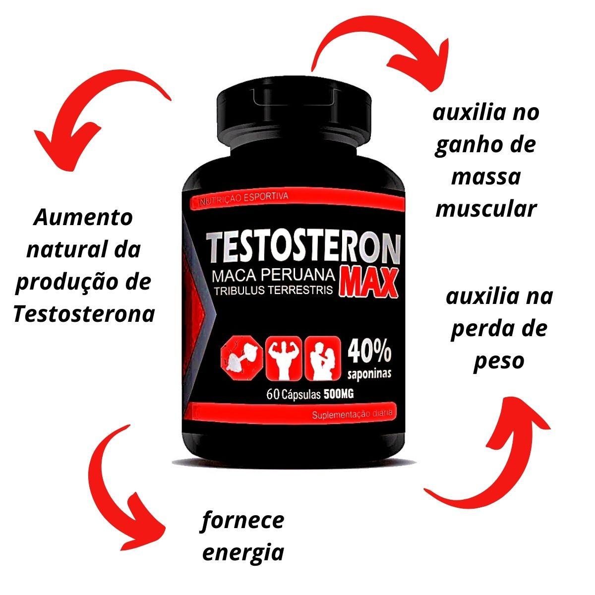 Testosteron max maca peruana 60caps 500mg - rn suplementos