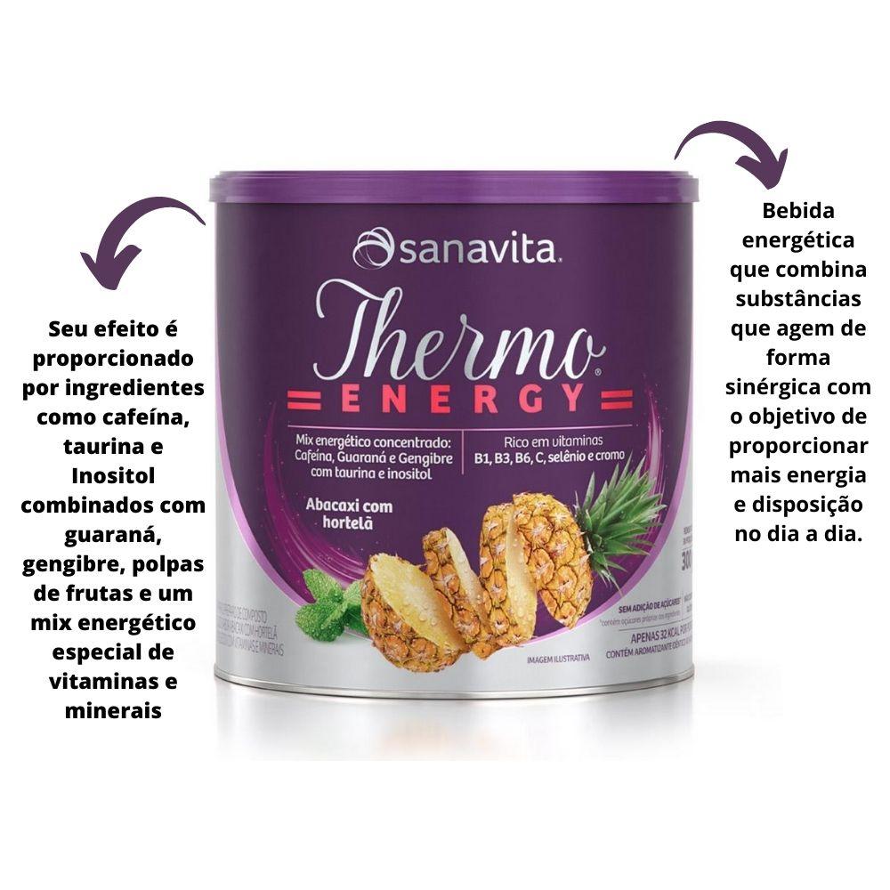 Thermo Energy Termogênico Abacaxi com Hortelã lata 300g Sanavita