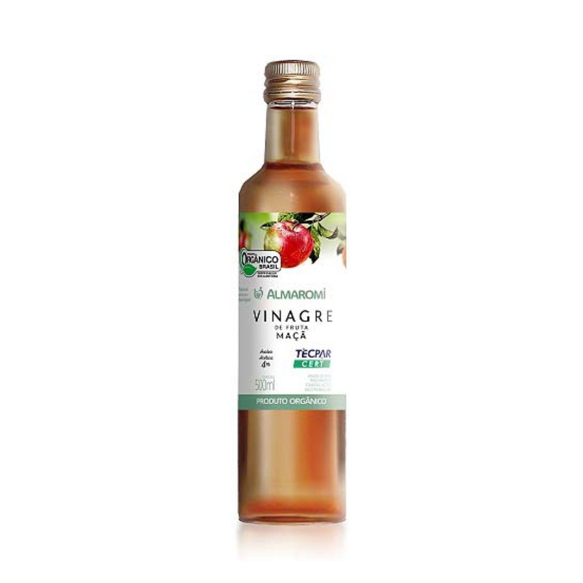 Vinagre orgânico maçã 500ml - Almaromi