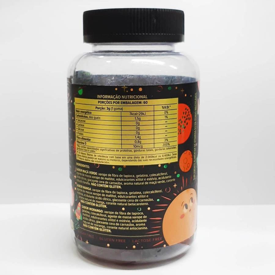 Vitamini D3 Pote 180g Com 60 Unidades Gomas De 3g - Essential Nutrition
