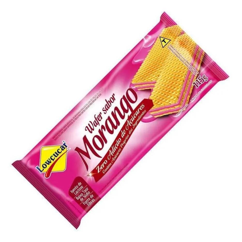 Wafer Zero Açúcar Morango 115g - Lowçucar