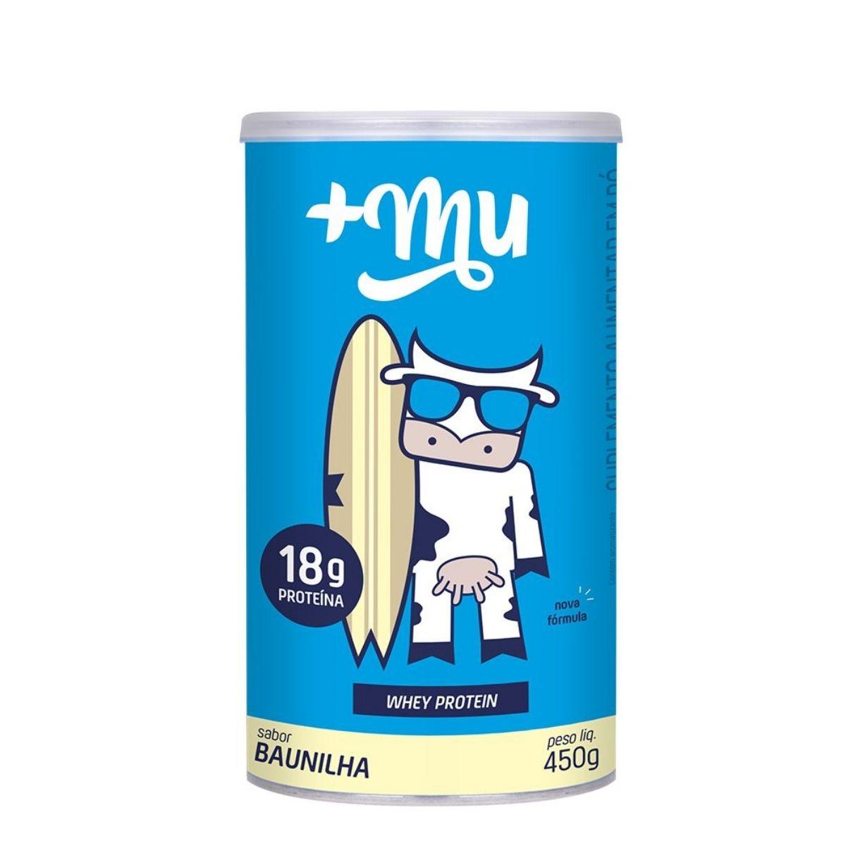 Whey Protein Concentrado Baunilha Proteína 450g - Mais Mu