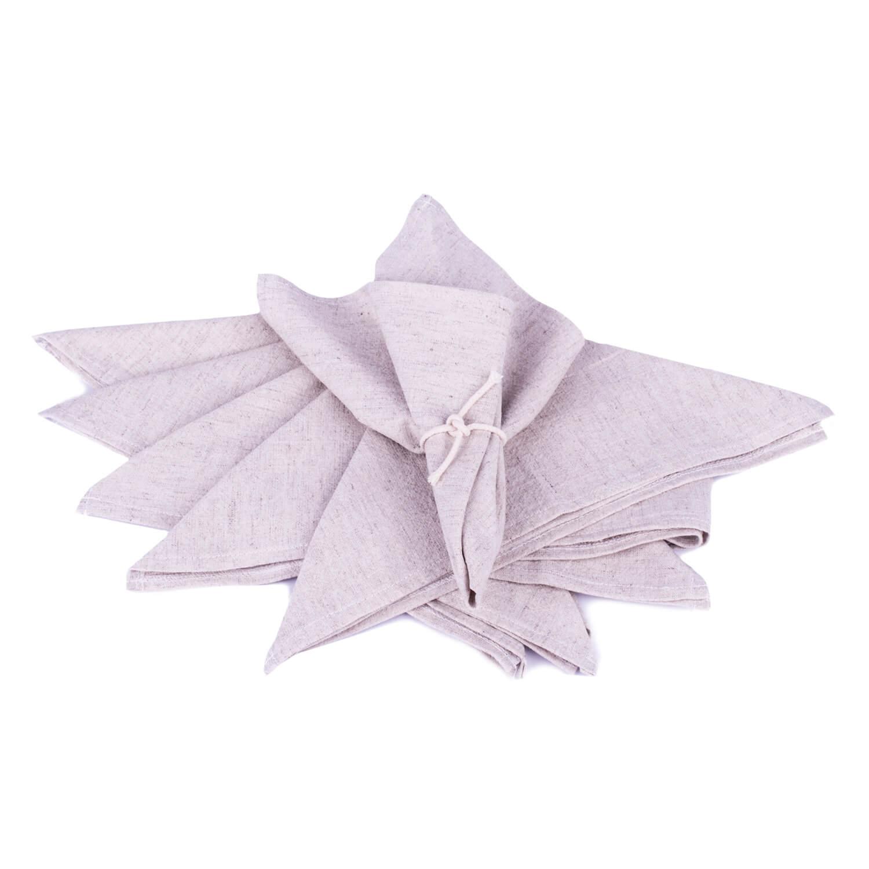 Kit 6 Guardanapos em tecido linho misto