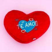 Almofada de pelúcia formato coração Te Amo - Cód.135498