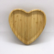 Bandeja de bambu formato coração M. Cód. 1356