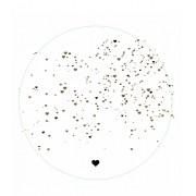 Capa sousplast branco com estampa de coração - Cód.OC321
