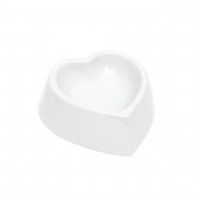 Comedouro formato coração de porcelana. Cód.10733