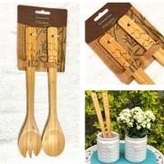 [OUTLET] Dupla de utensílios de bamboo natural Tramontina - Cód. 10239318 [OUTLET]