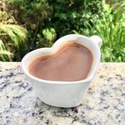 [OUTLET] Caneca formato coração de cerâmica 150ml design branca - Cód. OUTEROC447 [OUTLET]