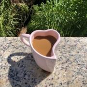 [OUTLET] Caneca formato coração de cerâmica 300ml design rosa - Cód. OUTEROC454 [OUTLET]