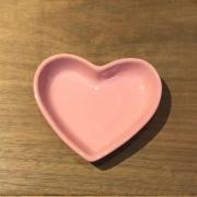 [OUTLET] Pires formato coração raso rosa bebê P - Cód. OUT8511RB [OUTLET]