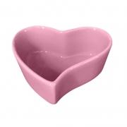 [OUTLET] Pote formato coração de cerâmica orgânico rosa 100ml - OUTOC419R [OUTLET]