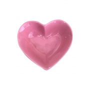 [OUTLET] Pote fundo cerâmica formato coração rosa 150ml import. - Cód OUTOC418 [OUTLET]