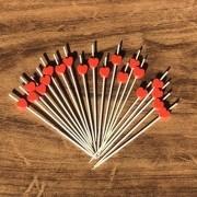 Palito em bambu com coração vermelho 12cm pacote 20und - Cód. HA010