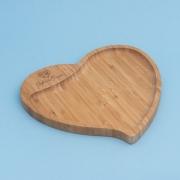 Petisqueira em bambu formato coração - Cód. PD-04013