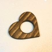 Porta guardanapos formato coração de pinus envelhecido- Cód. OC280
