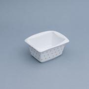 Pote estampa coração de porcelana retangular  - Cód.OC231