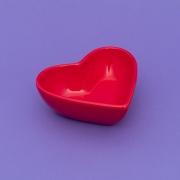 Pote formato coração vermelho cerâmica alto 300ml. Cód 75-317