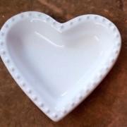 Pote formato de coração com borda de bolinha - Cód.ER149S
