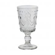 Taça de vidro com coração relevo 294ml und. Cód 7540