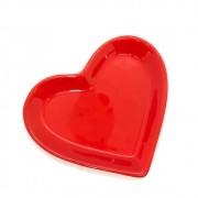 [OUTLET] Travessa petisco P formato coração vermelho - Cód.ER148 [OUTLET]