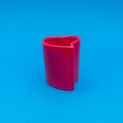 Vaso alto formato coração de cerâmica design vermelha - Cód. EROC496