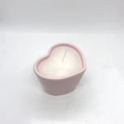 Vaso baixo com vela aromática decorativa de 110 gramas rosa - Cód. EROC452