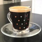 Xícara de vidro com mini corações 90ml - Cód 1050