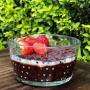 Bowl de vidro 620 ml com mini corações - Cód. 1049