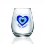 Copo de água Amor Grego Bons Fluídos 350ml. Cód.80591P