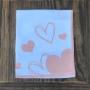 Guardanapo branco com corações rose G. Cód.JT03