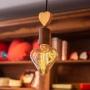 Pendente de alumínio com coração de madeira Munclair Exclusivo para Objetos de Coração - Cód. OC330