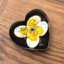 Pote de porcelana em formato coração preto G. Cód.2352