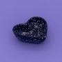 Pote formato coração preto e branco estampa granito de cerâmica G 300ml. Cód. 113-317