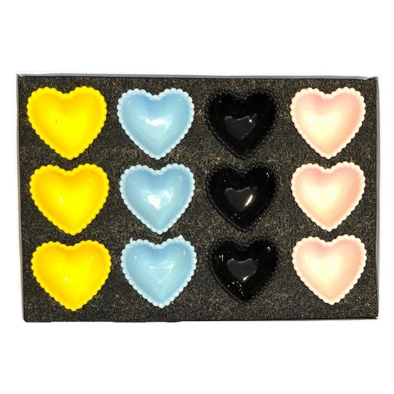Caixa Kit com 12 potes de 50ml de cerâmica colorido. Cód. OC435