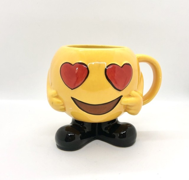 Caneca de porcelana 300ml emoji apaixonado - Cód.Yh16508-M