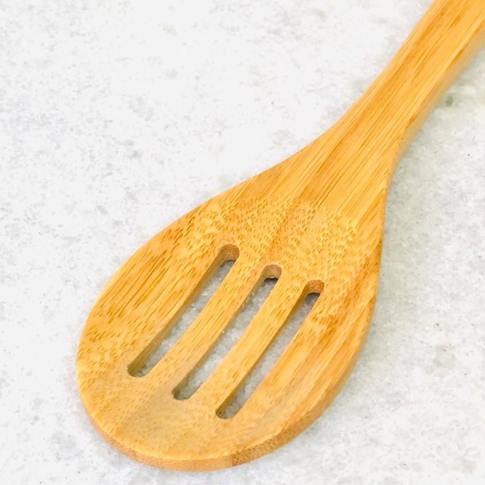 Colher de bambu natural com passador de alimentos Tramontina para Objetos de Coração - Cód. 10399026