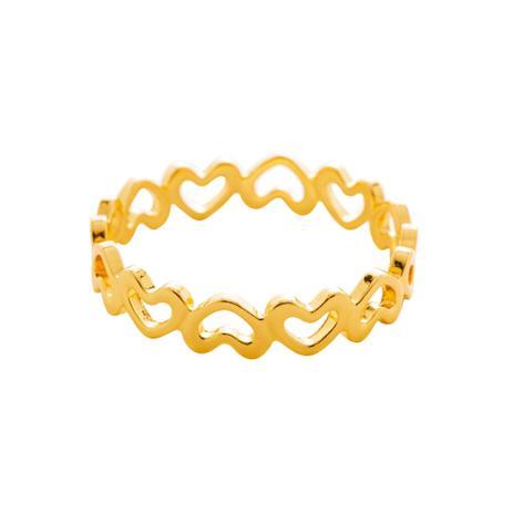 Conjunto 4 anéis porta guardanapos de zinco dourado. Cód.61403