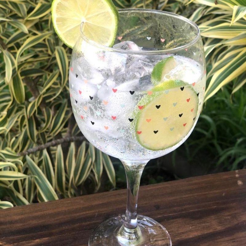 Conjunto 6 taças de Gin 655ml de coração - Cód. OC305