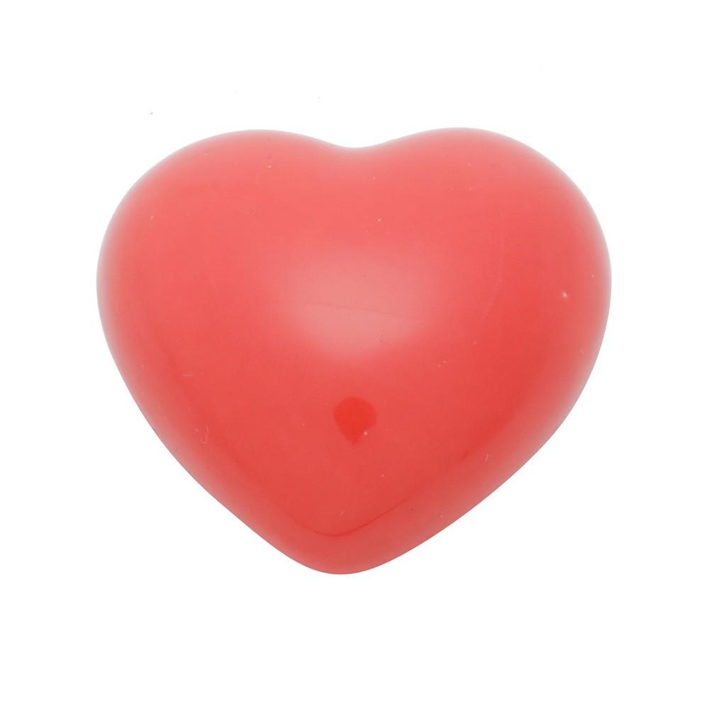 Coração de porcelana vermelho liso P - Cód. 43775