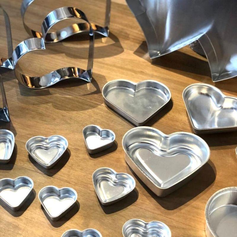 Forma formato coração pão de mel tam. 3 - 7cm x 2cm - Cód.0624
