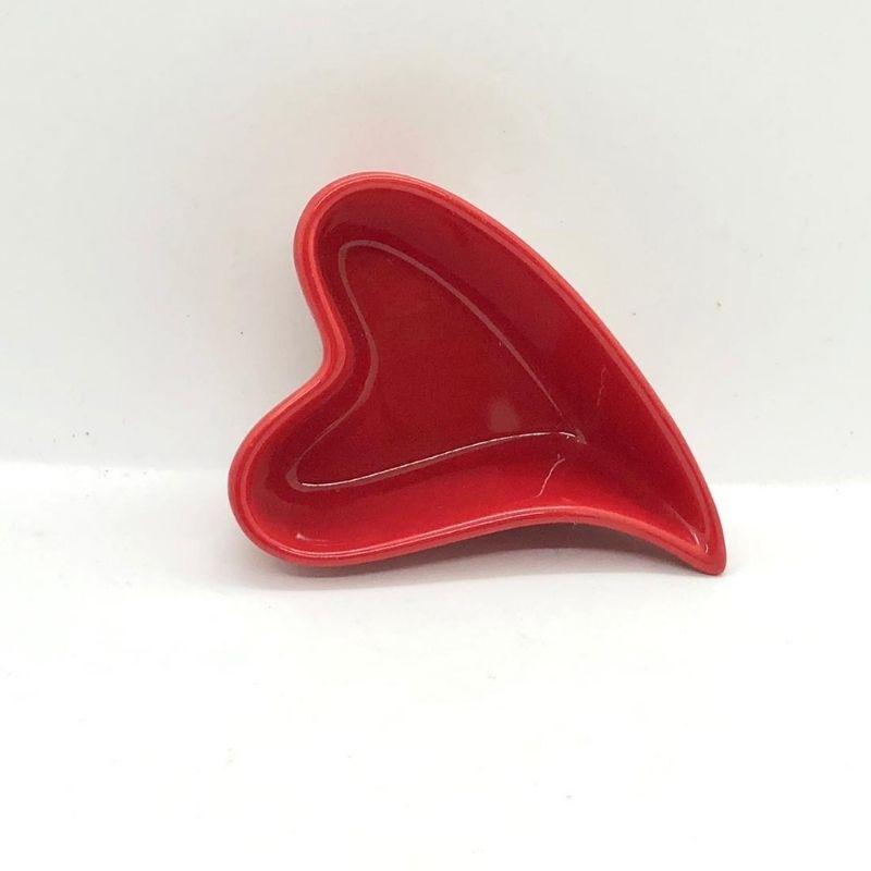 Jogo c/ 6 potes formato coração design 90ml vermelho - Cód. FY5332J
